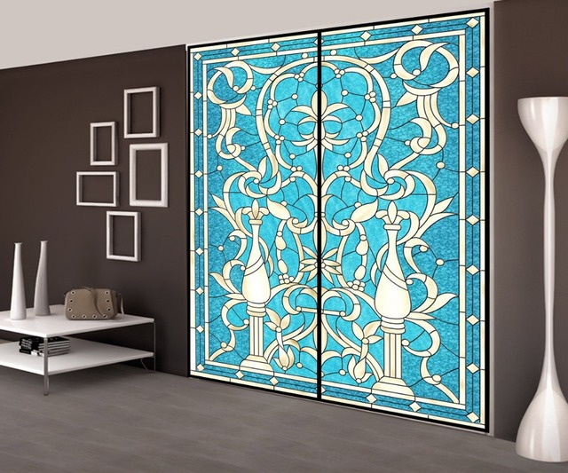 Nieuwe Aanpassen 50*100 cm Glasfolie zelfklevende Privacy Glas Raam ...