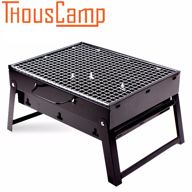 Portable Charcoal Grill Small Stainless Steel BBQ Grill Foldable Barbecue  Tools For Camping Outdoor Cooking