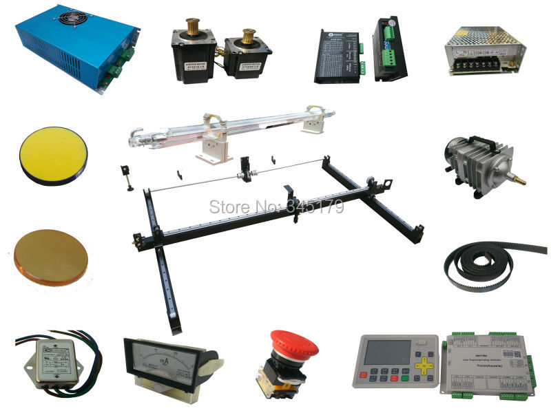 9060/80w DIY Assembly  Co2 Laser Engrave Machine . 80w Co2 Laser Tube.laser Power .AWC708C Controller And All Parts
