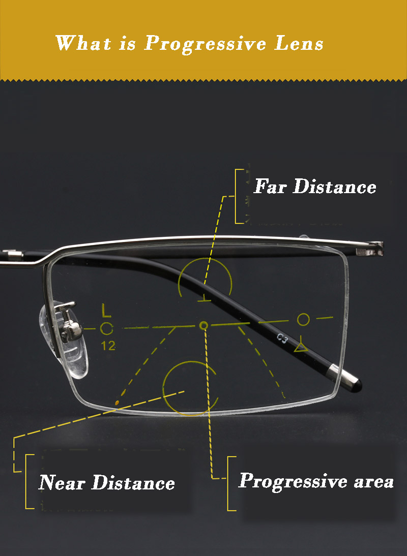 Anteojos de aleación de titanio Hombres Zoom inteligente - Accesorios para la ropa - foto 2