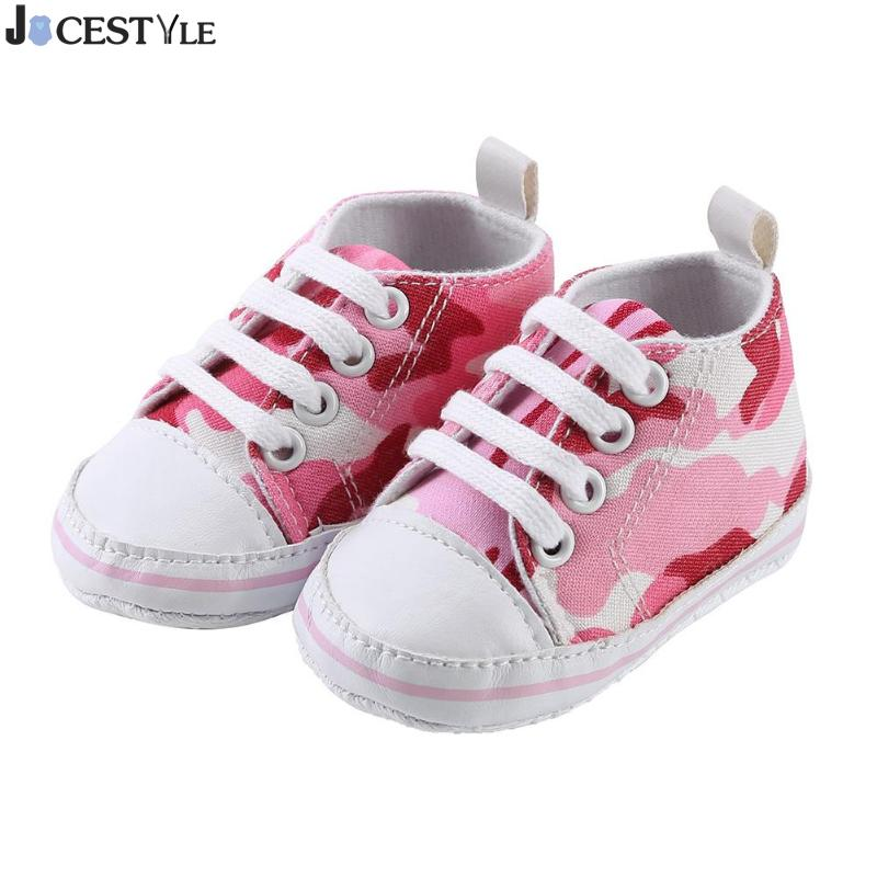 JOCESTYLE Camo Print Infants Baby Boy Girl Shoes Soft Soles Canvas Anti-Slip First Walkers Sports Sneakers