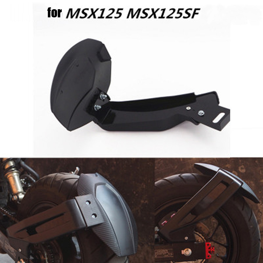 Knight Motorcycle Rear Wheel Fender Splash Guard For Honda Grom MSX125 MSX125SF Rear Mudguard With Bracket black 20 ncctec spike roller with splash guard 500mm for removing bubbles in epoxy industrial flooring teeth height 11mm