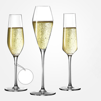 1Set Lead free Crystal Glass Champagne Flutes High quality Manual blowing wine glass Household goblet European wedding box Gifts