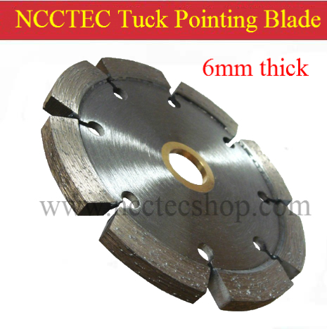 4'' Diamond Tuck Pointing Blade / 105mm Concrete Tuck Point Pointer Grooving Tools / 5 6 10mm Thick Segment Hard Motor Removal