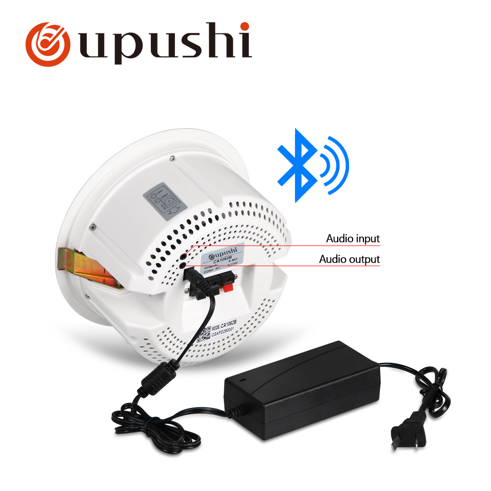 Oupushi CA1062B Audio Bluetooths Ceiling Speaker Bathroom Kitchen Best Seller|Public Address System/Installation Sound| |  - title=