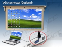 HZHZQX 22inch Antomatic Ceiling Flip Down Lcd Display Full Motorized Roof Mounted Bus Monitor With HDMI
