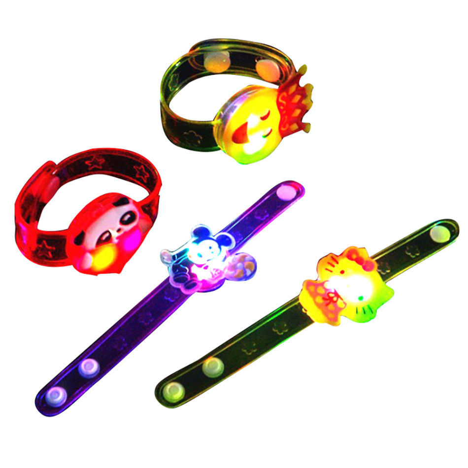 Personality Bracelet Multi-color Random Delivery Children's Flash Bracelet Electric Luminous Flash Bracelet