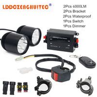 LDDCZENGHUITEC Universal Motorcycle LED Fog Lights Taillight Anti Fog Parking Stop Brake Lamps Warning Tail Light