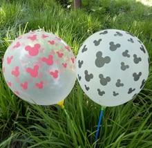 12inch 2.8g Mickey mouse balloon latex round black balloon printed balloon birthday wedding kids toys free shipping100 pcs/lot