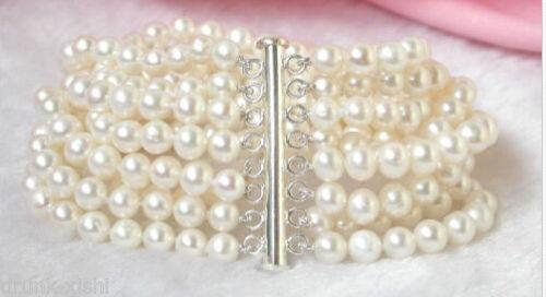 8 brins 6 - 7 mm blanc mer du sud perles bracelet @ ^ Noble style fin naturel jewe de la livraison gratuite