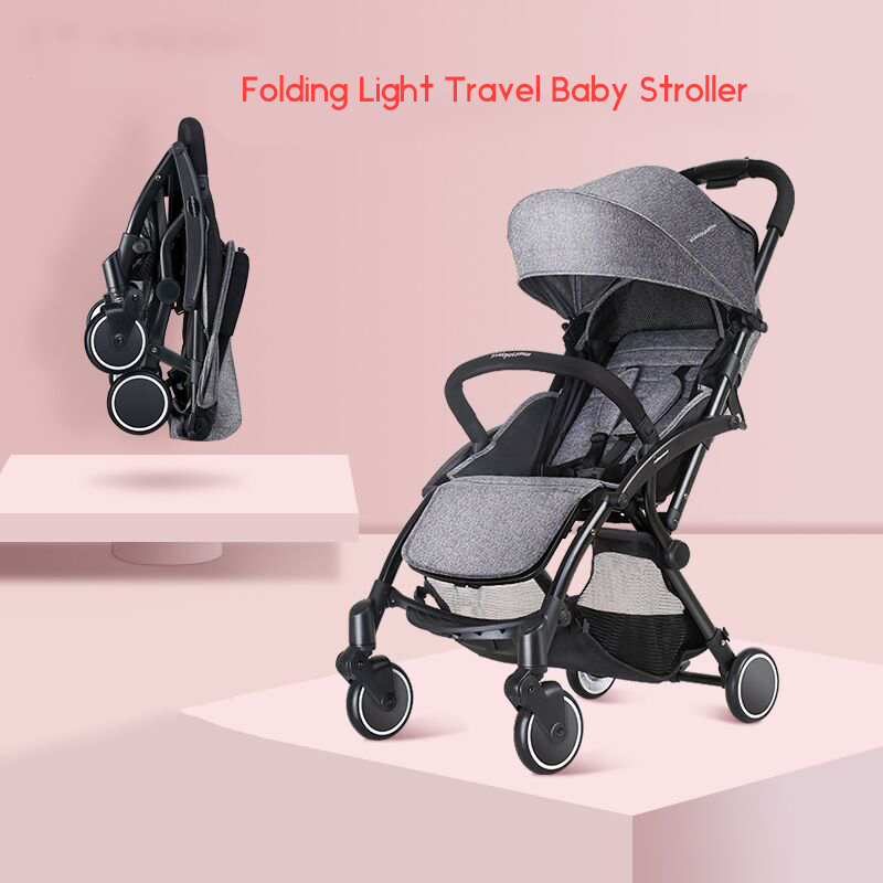 Kiddopotamus Baby Cart Super Portable Folding Can Sit In Parachute Car Baby Baby Driver Trolley