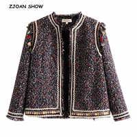 Ethnic Mix colored Tassel Weave Jacket Vintage Autumn Women Patchwork Basic Coat Soft Woolen Women Slim Cardigan Outwear Tops