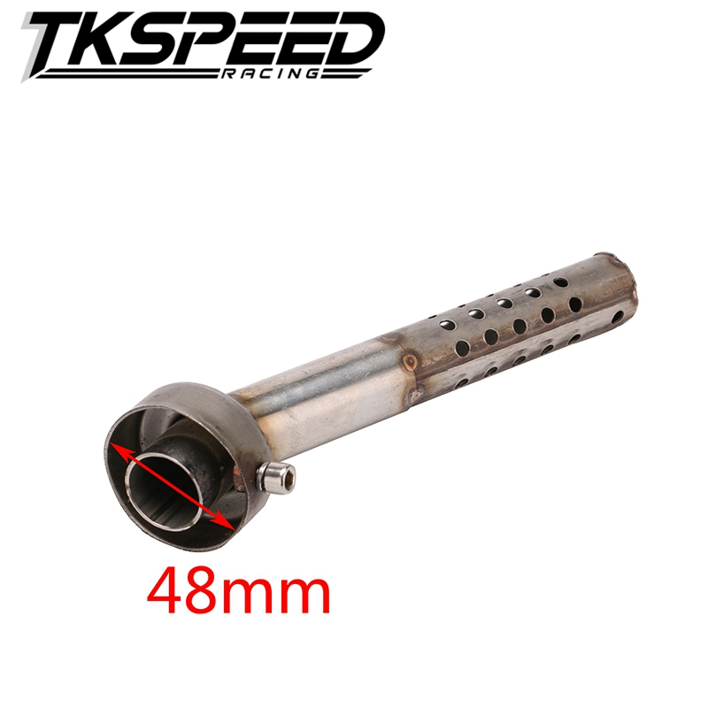 Motorcycle Accessories New Metal Motorcycle Angled DB Killer Bend Muffler Exhaust Silencer Diameter 48mm Length 190mm