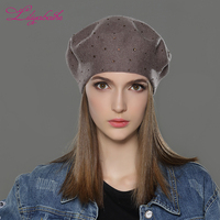 LILIYABAIHE New Style Women Winter Hats Wool Knitted Berets Cap The Most Popular Decoration Thick Warm