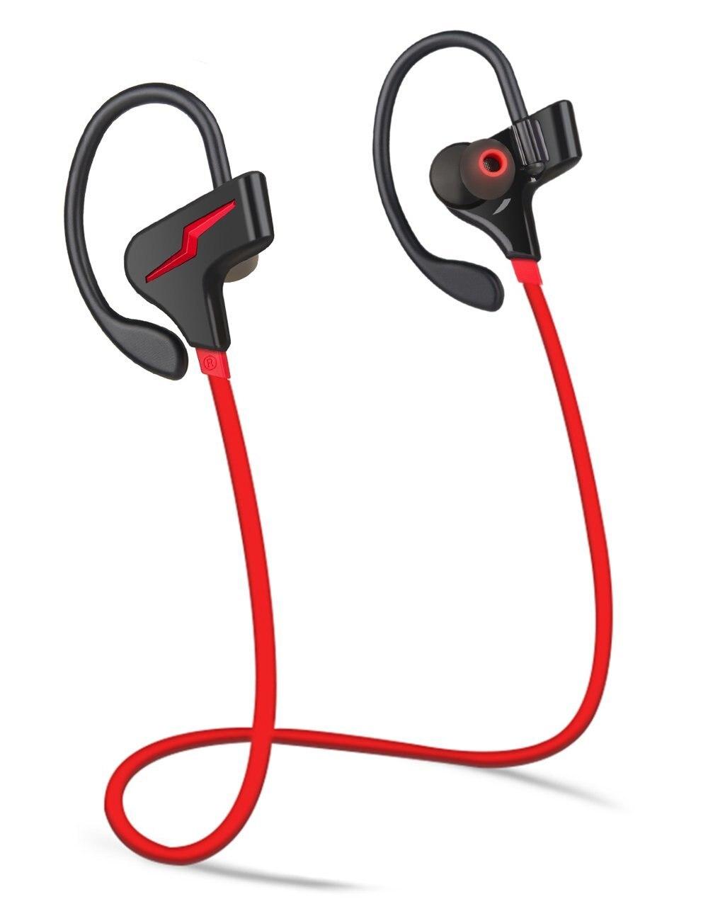 Bluetooth Headphones Wireless Sport Earbuds Waterproof IPX7 Deep Bass HiFi Stereo In-Ear Earphones w/ Mic Headsets 8-9 Hrs bs 361 folding stereo bass headphones w tf fm speaker deep blue white