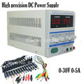 EU Plug 220/110v High precision Digital Adjustable DC Power Supply 0-30V 0-5A DC For Lab Notebook computer repair +39pcs Plugs