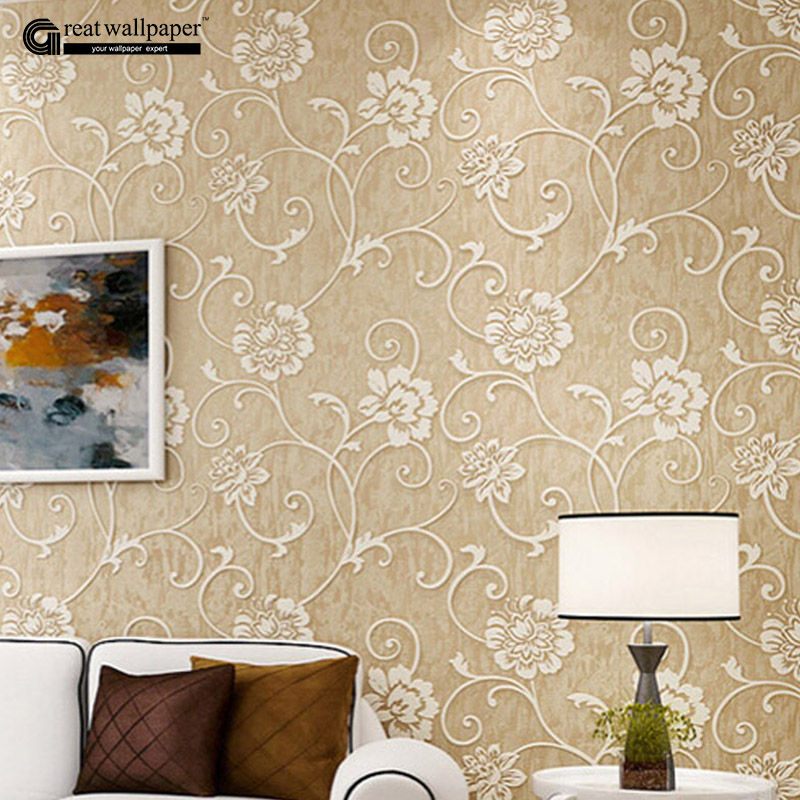 Factory direct sales modern 3d wallpaper roll wall paper for Bedroom wallpaper sale
