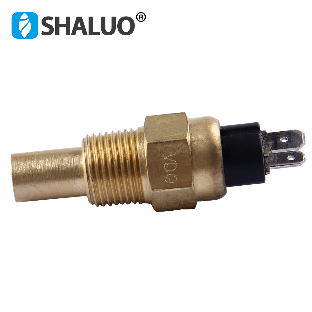 Universal Diesel Engine Water Temperature Sensor 17mm Screw VDO 3/8NPT Brass Generator Part Alarm Electric Liquid Sensor 12v24v