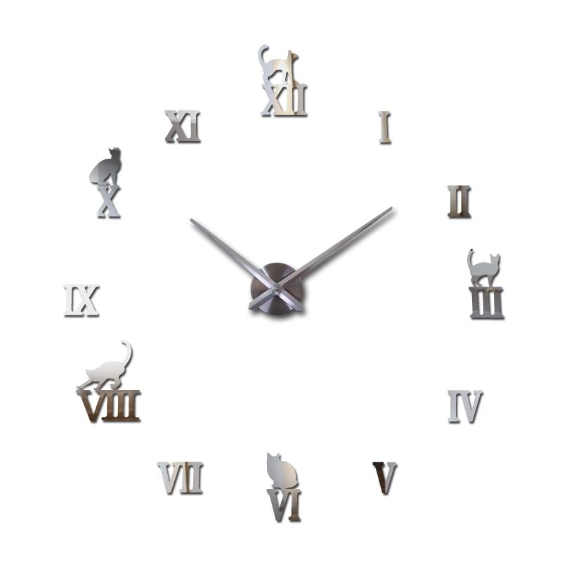 Nové hodinky hodiny hodiny domácí dekorace klok akrylové miroir velké nástěnné samolepky prodej Quartz Modern Metal