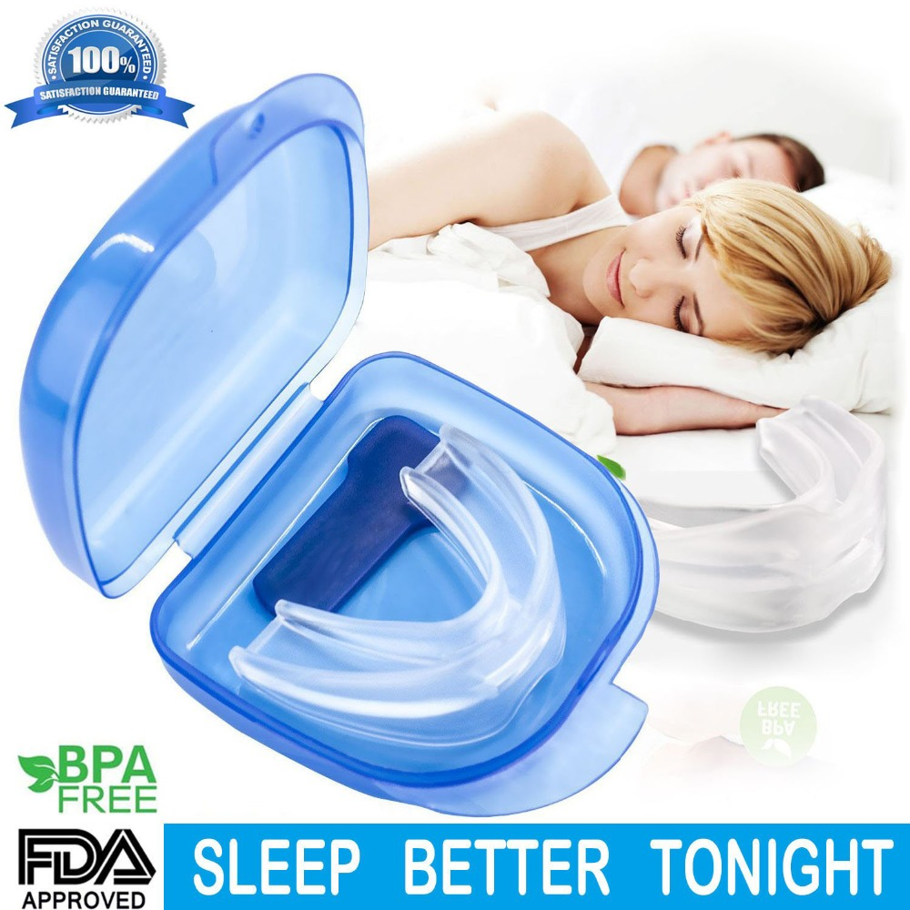 Gum Shield for Stop Grinding Teeth & Snoring, 2-in-1 Anti Snoring Devices Snore Stopper for Better Sleep