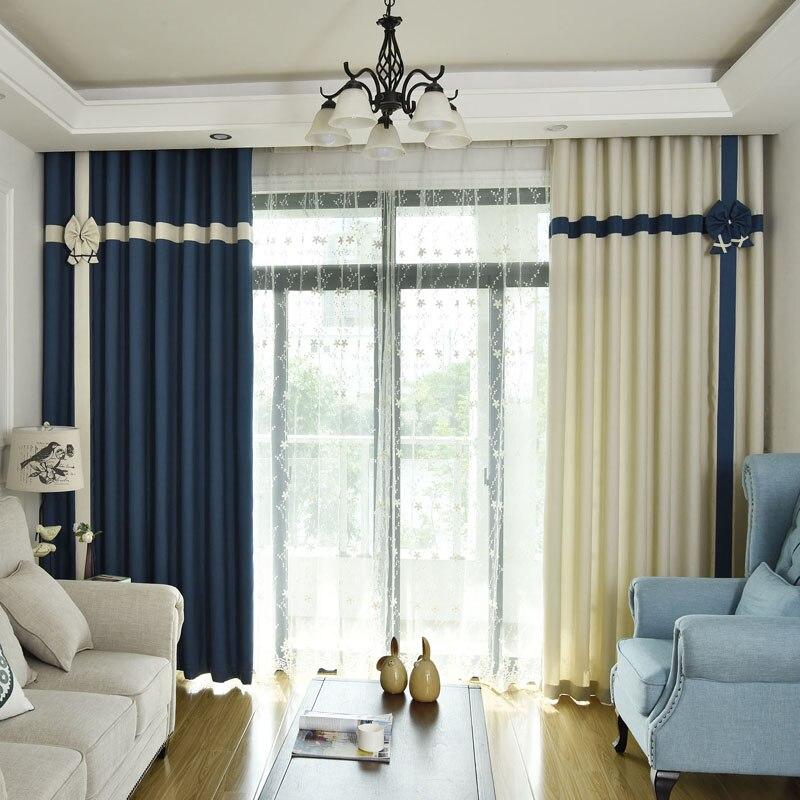 rideaux modernes occultants pour salon salle a manger pour chambre a coucher epissage scandinave mediterraneen tulle de fenetre de princesse