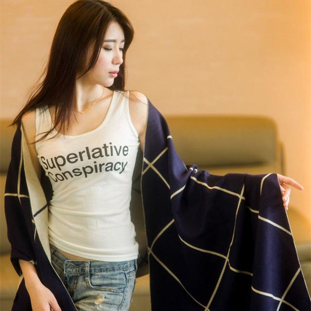 Nova Moda Inverno Mulheres Cachecol Cobertor Urso Xadrez Cachecol Feminino Xales E Cachecóis Cachecol De Alta Qualidade 1