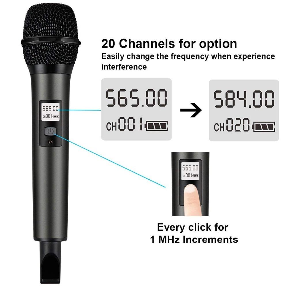 Système de Microphone sans fil Fifine avec récepteur Portable sortie 1/4 '', canaux UHF sélectionnables. Parfait pour l'église, le mariage, etc. - 4