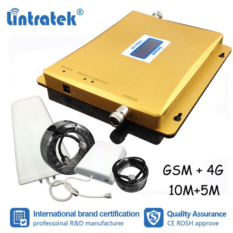 Navire Lintratek de la russie 4G LTE GSM 1800 900 répéteur GSM 900 mhz DCS 1800 mhz amplificateur cellulaire amplificateur répétidor # dd