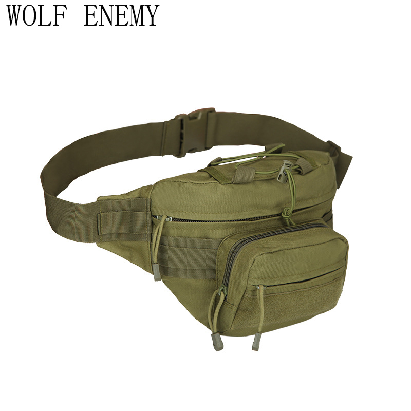 Outdoor Military Tactical Waist Pack Shoulder Bag Molle Camping Hiking Pouch Climbing Bag Outdoor Bags