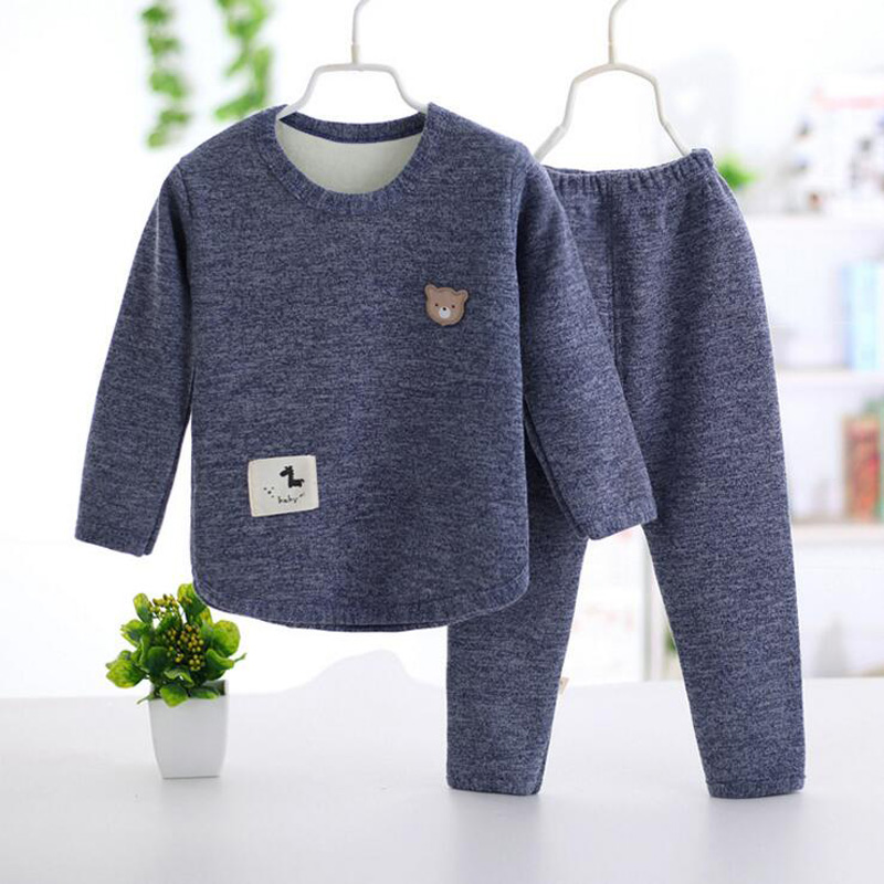 Autumn winter Baby Girls Clothing set Lovely Children's Clothes 2PCS Thick warm Long Sleeve Tops + Pant Sets 2pcs set baby clothes set boy