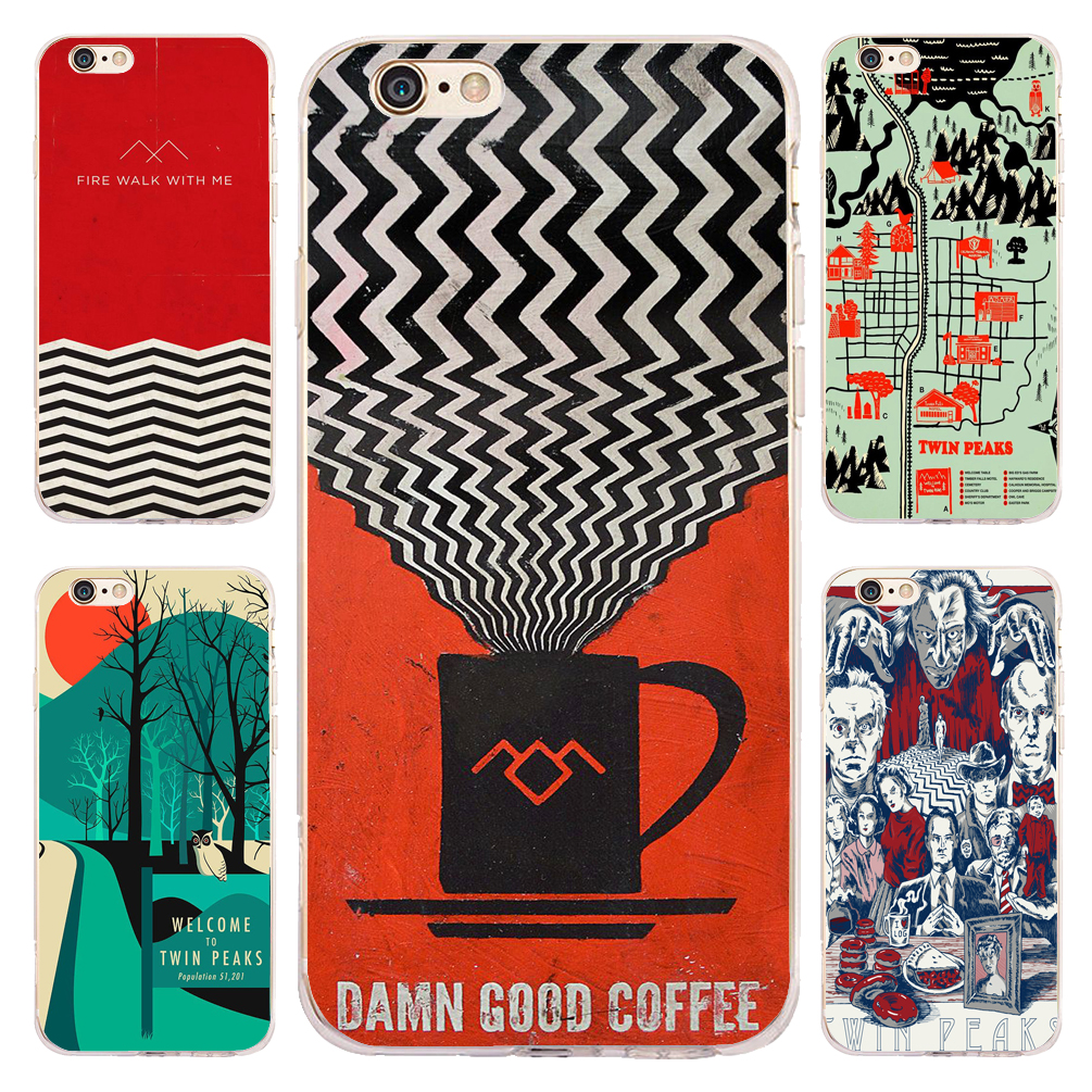 Coque TV Series Twin Peaks Clear Soft TPU Silicone Phone Cover for iPhone X 7 8 Plus 5S 6 6S Plus 5 SE 5C 4 iPod Touch 6 5 Case