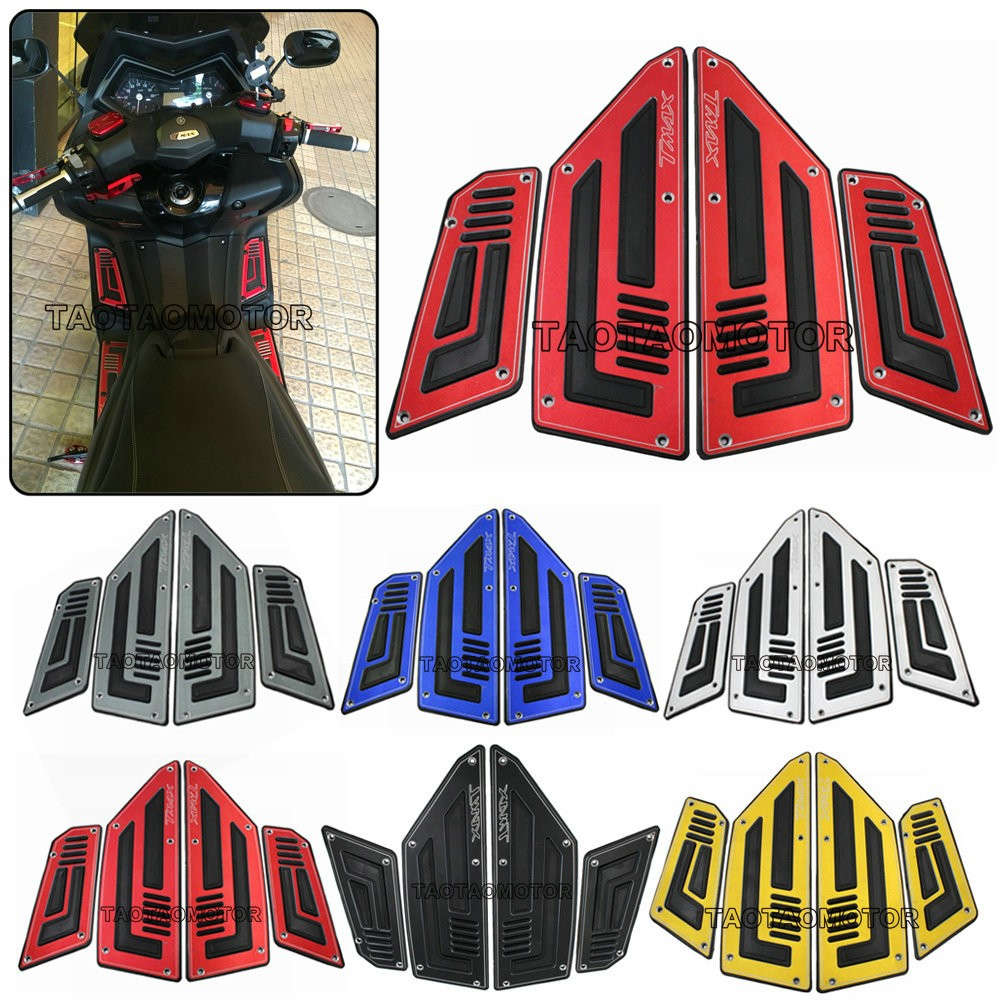 Motorcycle Footboard Steps Motorbike Foot For YAMAHA TMAX530 TMAX 530 T MAX 530 2012 2013 2014 2015 16 Footrest Pegs Plate Pads-in Foot Rests from Automobiles & Motorcycles