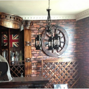 Vintage Red Brick Wall Paper Backdrop Texture Vinyl Wallpape Roll Fake Decorative Design Faux