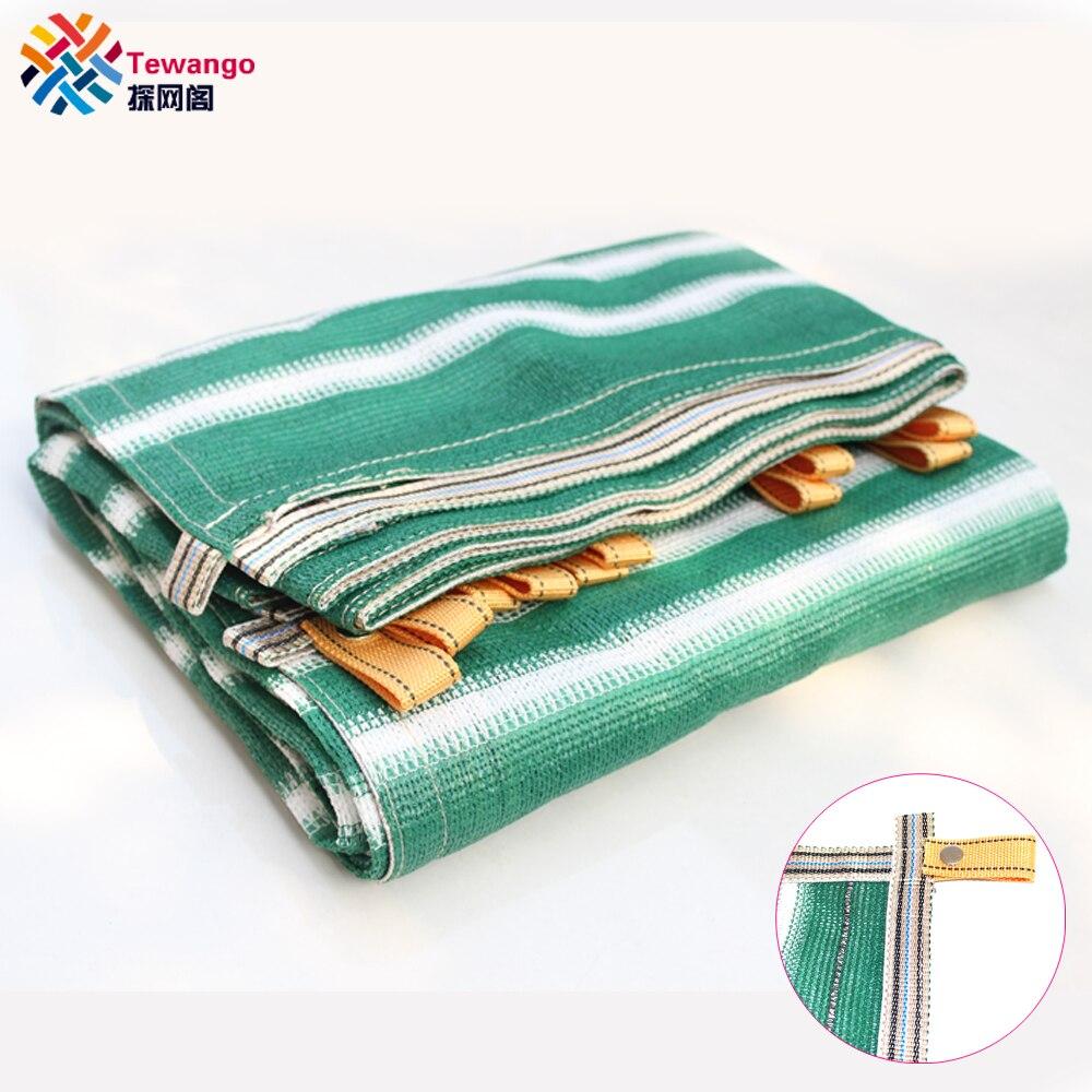 Tewango Green White Shade Screen Net Mesh Netting Tarp Canopy Cover Sunlight Block 95 UV 180G
