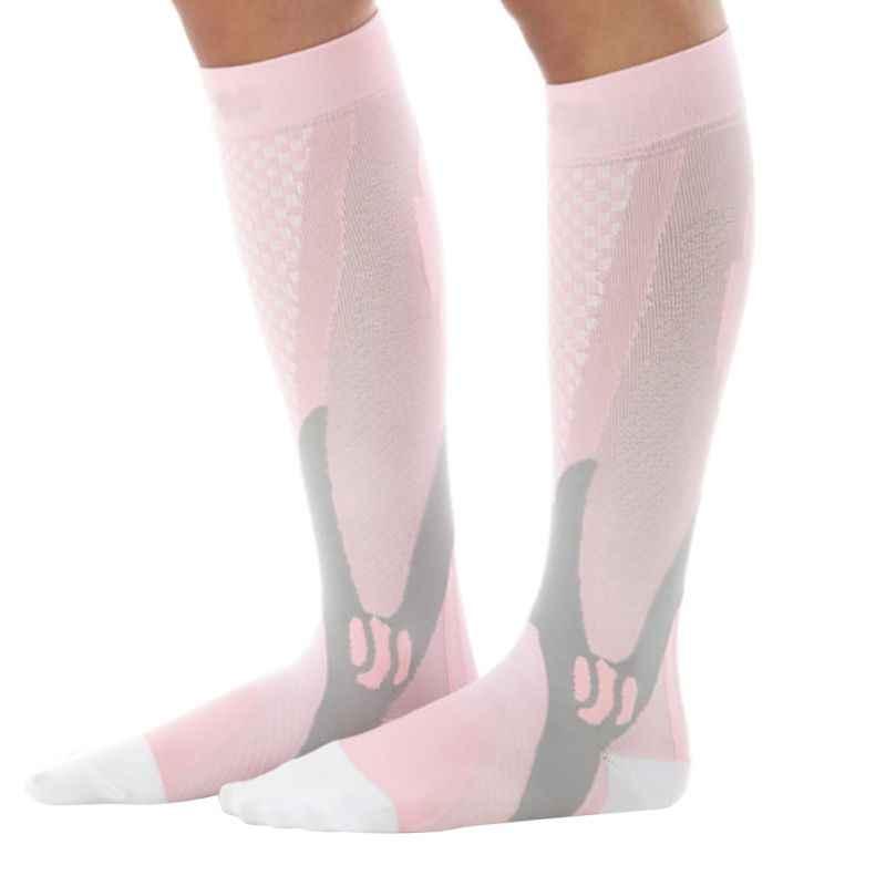 Спортивные носки для Ног Эластичные уличные Компрессионные гольфы для бега лыжные длинные носки мужские и женские