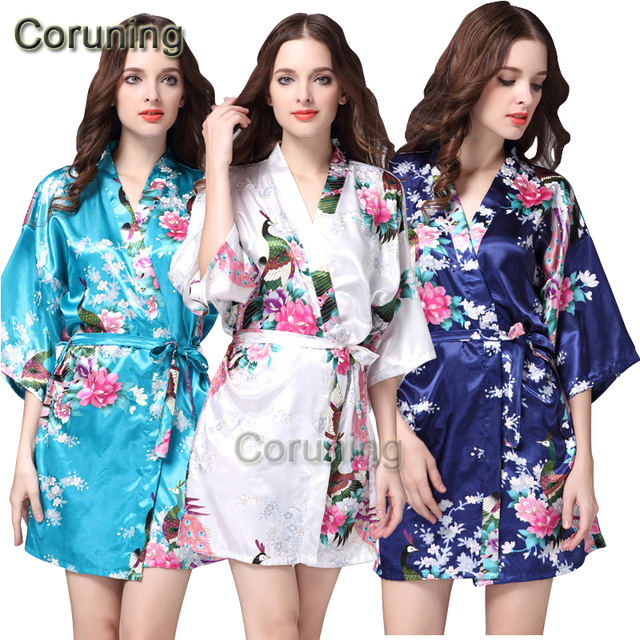 1d688e8948 RB002 Satin Robe Bathrobes For Women Bridesmaid Robes Kimono Silk Wedding  Robes Nightgown Women Pajamas Pijama Nightdress Robe