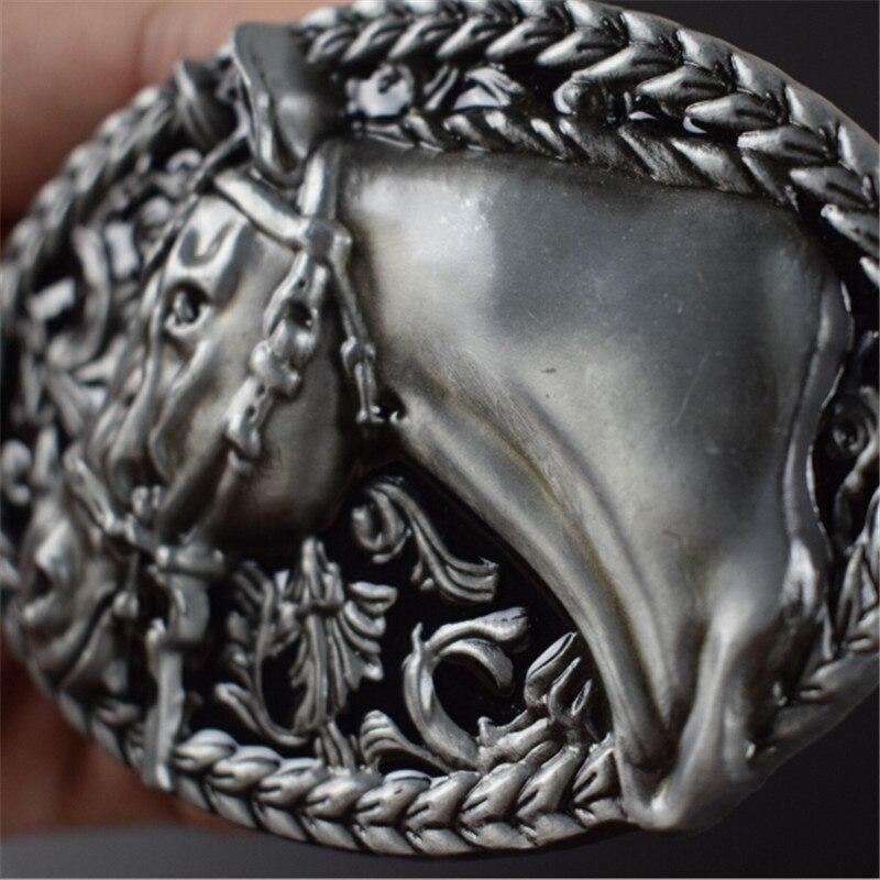 Gürtelschnalle 8,9 cm 3D pferdekopf muster metallstift schnallen ...