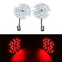 Motorcycle 1 Pair/ 2 PCS Bulb Red For Harley Touring 1157 LED Daytime Turn Signal Panel Light DRL BAY15d(China)