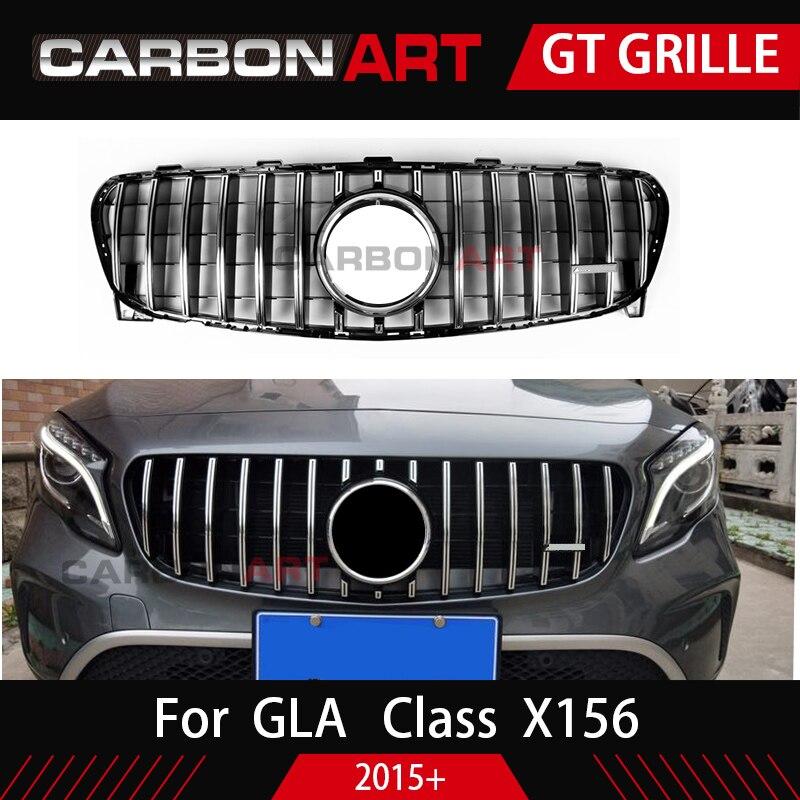 GLA X156 Auto Avant grille Approprié pour Mecedes NOUVEAU Lifting GLA X156 Classe GLA200 GLA250 GLA260 maille racing grille 2017 -2018