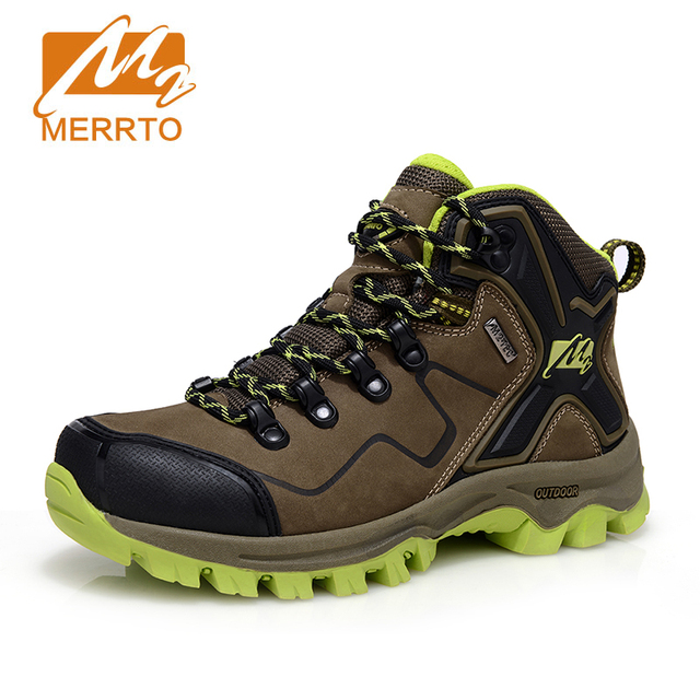 MERRTO 2016 Women Waterproof Hiking Shoes Genuine Leather Waterproof Trekking Shoes Outdoor Breathable Hiking Boots For Women