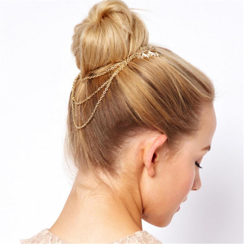 Bride Jewelry Accessories Hair Clip Hair Comb Tassel Chain Headbands Hair Rope