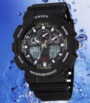 Lcd-Watch Sport-Wristwatch Digital New-Fashion Rubber Hot-Sale Electronic Men