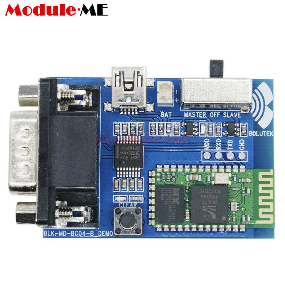 RS232 Bluetooth Adaptateur Série Communication Maître Esclave 2 Modes 5 v Mini USB Bluetooth Serial Port Profile Module