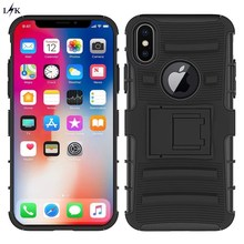 Heavy Duty Armor Holster Defender Full Body Protective Hybrid Case For iPhone X