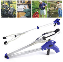 Foldable Pick Up Garbage Gripper Long Arm Helping Hand Gripping tool bending save Tongs picking rubbish drop shipping(China)
