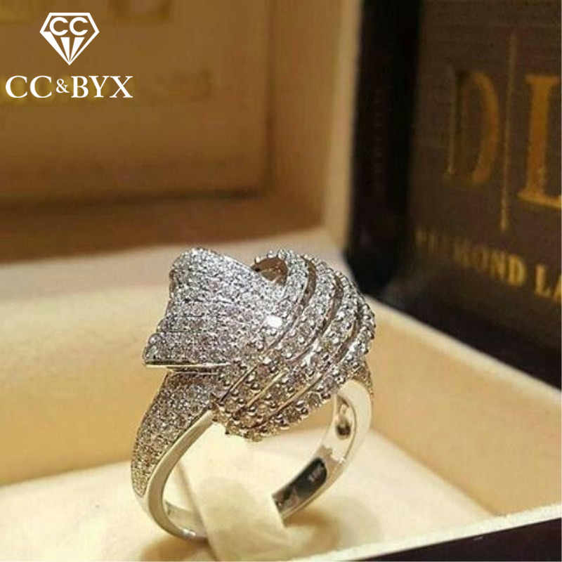 CC แหวน Cubic Zirconia Wedding Anel หมั้น Creative Bijoux Temperament แหวน Drop Shipping CC2175