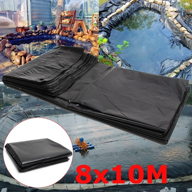 20s 8*10m Large Fish Pond Liner Garden Pools Reinforced HDPE Heavy Duty Landscaping Pool Pond Waterproof Liner Cloth
