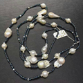 2016 New Brand ALMOSV FAMOUS Nature Baroque Big Pearl  Bead Necklace for Mother Gift  120mm Pearl Perle Jewelry  Necklace