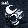 Beier 316L stainless steel ring top quality new style punk biker wrench man ring tools fashion jewelry  BR8-401