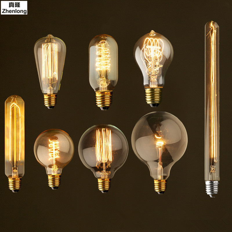 Antique Retro Vintage LED Edison Bulb E27 LED Bulb E26 Filament Light 220V Glass Bulb Lamp 4W 8W 12W 16W Villa Decorative Light